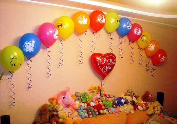 Как украсить комнату на день рождения своими руками фото 8 лет