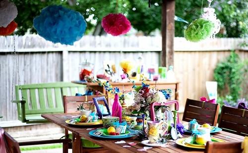 Украсить двор на день рождения ребенка своими руками